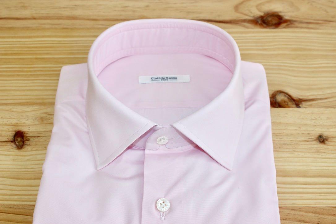 chemise unie rose sur mesure , chemise unie rose