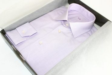 Chemise unie violette sur mesure Ballu
