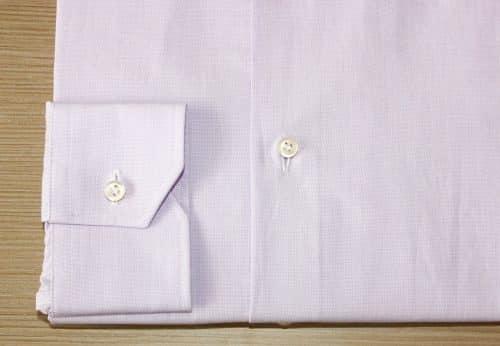 chemise unie violette ,chemise coton, chemise business, Chemise col italien, chemise homme, chemise poignets simples, chemise simple retors, chemise violette, chemise bas liquette, chemise sans gorge