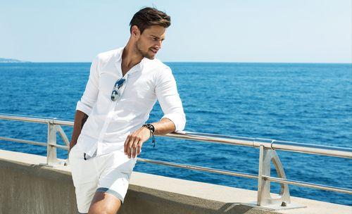 chemisette homme, chemise manches courte, chemise manches retroussées, clotilde ranno, chemise sur mesure, boutique chemise sur mesure