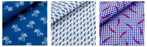 thomas mason, tissus imprimés, lézard, palmier, piment, chemise sur mesure, bespoke, chemise homme, chemise femme, luxe