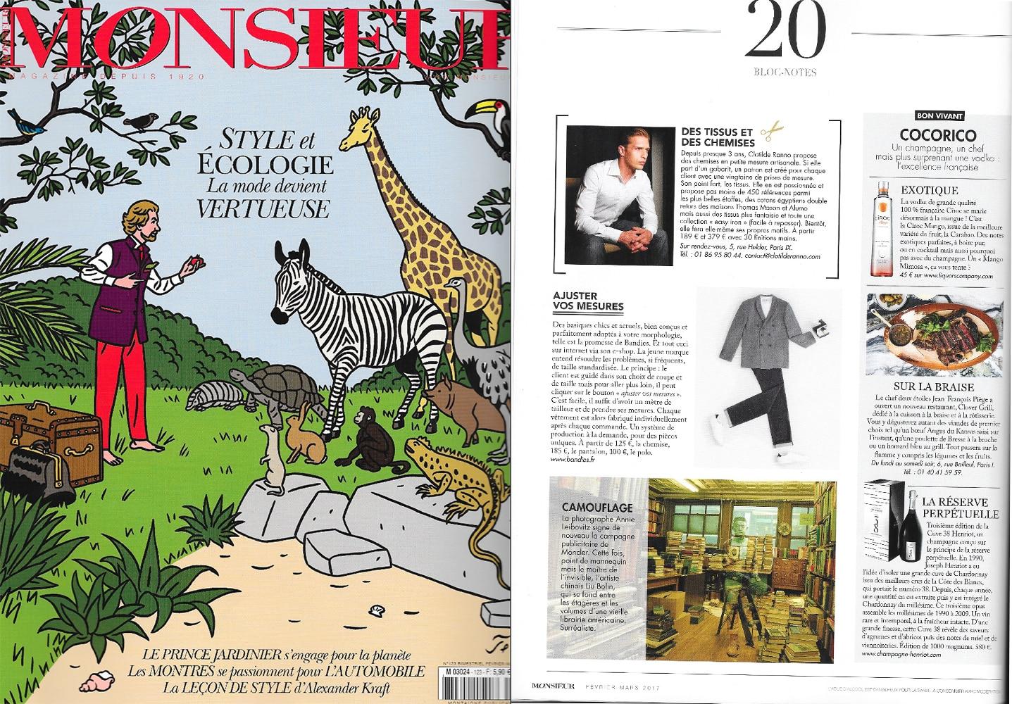 Monsieur Magazine, Clotilde Ranno, chemise sur mesure, chemise sur mesure paris, chemise luxe, mode homme, mode masculine, chemise homme