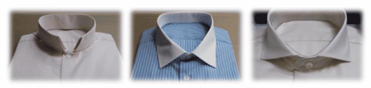 ol inversé, col italien, col cutaway, chemise sur mesure, chemise femme, chemise homme, chemise sur mesure, bespoke