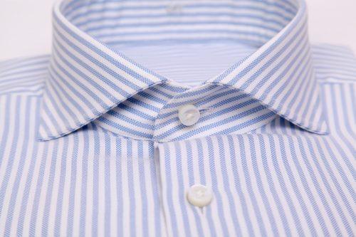 chemise rayée, chemise business, chemise sur mesure, chemise luxe, chemise homme, col cutaway, détail finition chemise, chemises sur mesure, chemises, clotilde ranno
