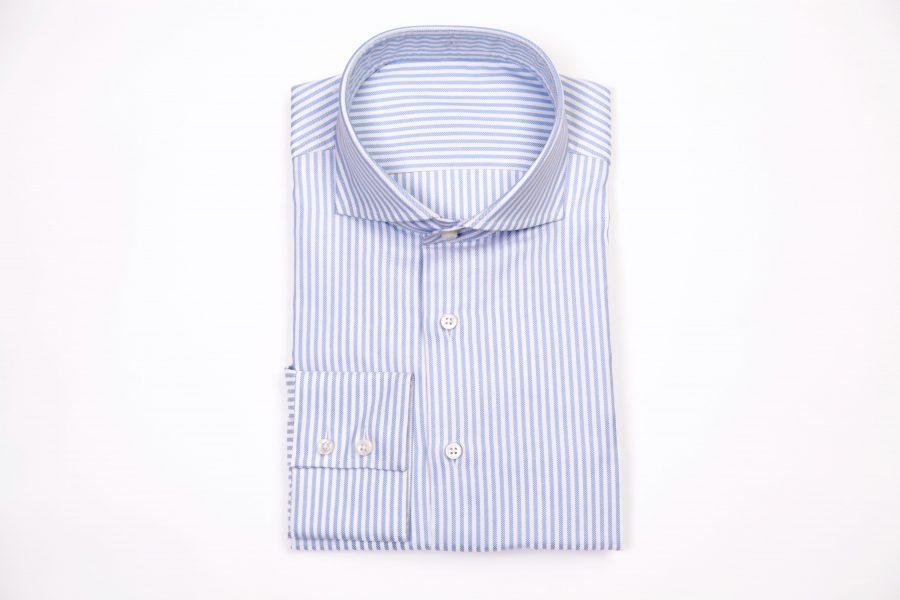 chemise sur mesure, coffret cadeau chemise sur mesure, coffret cadeau homme, bon cadeau chemise sur mesure, chemise business, chemise rayée, chemise homme, clotilde ranno, chemise col cutaway, belle chemise, chemise luxe, chemise classique