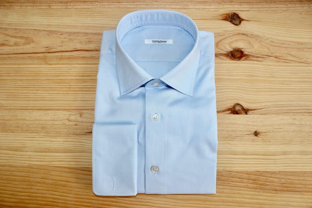 chemise en twill, chemise bleue, chemise sur mesure bleue, chemise incontournable, chemise en twill bleu, chemise paris