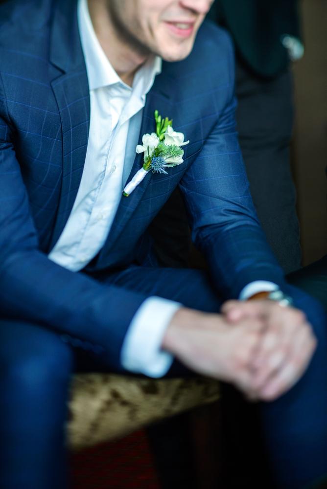 costume de mariage, costume cérémonie, costume bleu sur mesure, costume sur mesure, costume à carreaux, costume sur mesure paris, atelier clotilde ranno, clotilde ranno