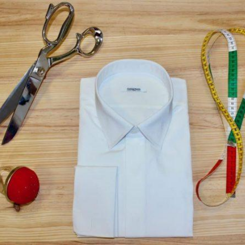 chemise mixte unie, chemise unisexe, atelier Clotilde ranno, Clotilde ranno