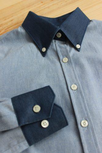 chemise sur mesure en jean , chemise sur mesure chambray, chemise en jean , chemise en chambray