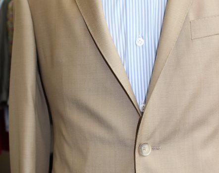 costume beige sur mesure , costume beige , costume sur mesure