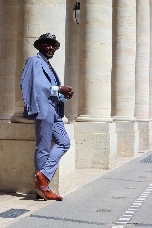 costume bleu sur mesure, costume sur mesure bleu, costume sur mesure, costume sur mesure paris, costume sur mesure homme, costume full canvas, clotilde ranno, atelier clotilde ranno, thierry mouele, thierry mouele sprezzatura