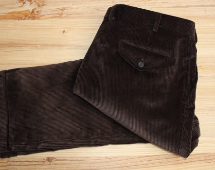 pantalon velours côtelé marron sur mesure , pantalon velours côtelé , pantalon casual sur mesure , pantalon marron