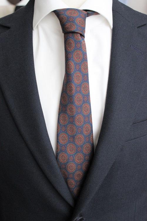 cravate 12 plis en soie, Calabrese 1924