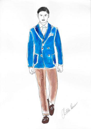 veste croisée sur mesure , veste croisée , blazer