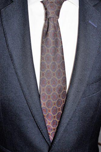 Cravate en soie Calabrese 1924, 12 plis