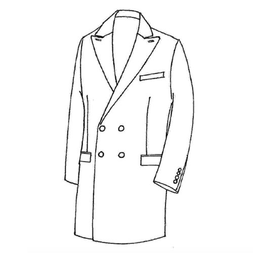 ulster coat, ulster coat sur mesure, manteau sur mesure, atelier clotilde ranno, manteau sur mesure paris