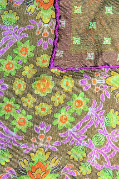 pochette de costume à motifs végétaux, motifs, calabrese 1924