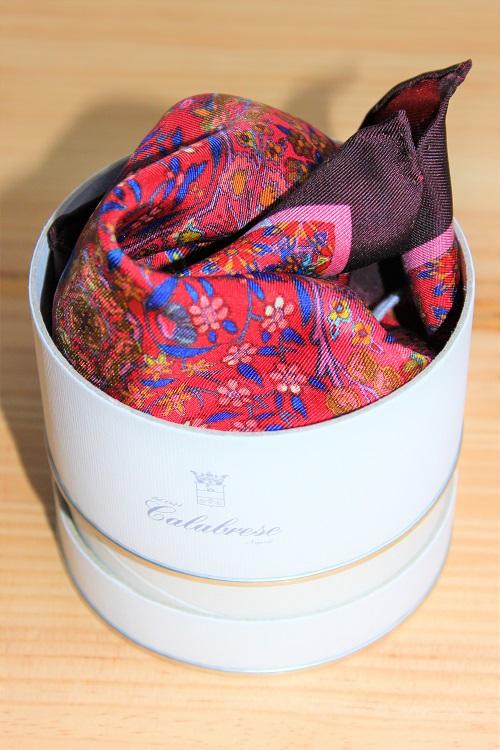 pochette de costume colorée à motifs floraux, en soie de come, Calabrese 1924