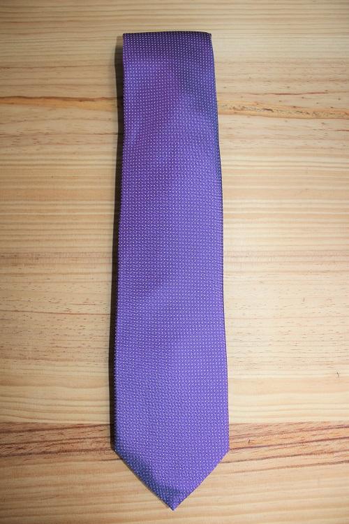 cravate violette, calabrese 1924, en soie