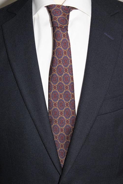 cravate en soie, Calabrese 1924, 12 plis