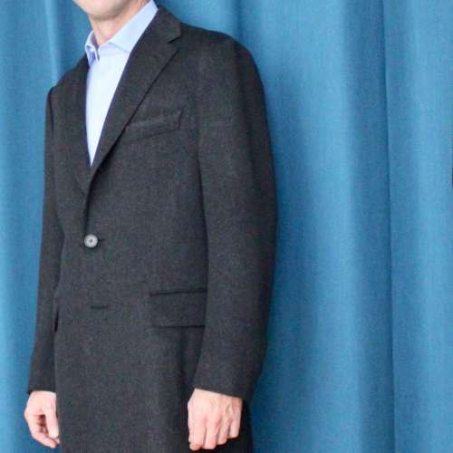 manteau sur mesure, manteau sur mesure homme, manteau sur mesure en laine, clotilde ranno, atelier clotilde ranno, manteau loro piana
